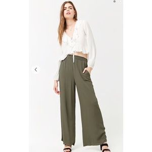 Smoked wide-leg pants . Only  worn once